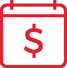 calendar dollar icon