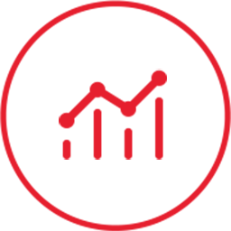 chart growth circle icon